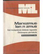Marxizmus-leninizmus (Olvasókönyv/I. rész)