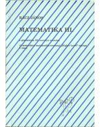 Matematika III.