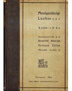 Mezőgazdasági lexikon II.
