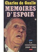 Memoires d'Espoir I.