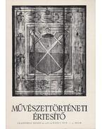 Művészettörténeti értesítő XXXVI. évf. 1-4. szám - Mojzer Miklós