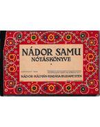 Nádor Samu nótáskönyve