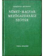 Német-magyar mezőgazdasági szótár