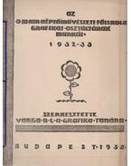 Az O. M. Kir. Képzőművészeti Főiskola Grafikai Osztályának munkáiból 1932-33