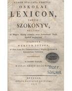 Három nyelvből készült oskolai lexicon, vagyis szókönyv második darab - Márton József