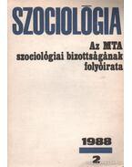 Szociológia 1988/2. - Papp Zsolt