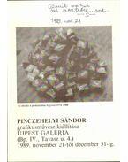 Pinczehelyi Sándor grafikusművész kiállítása (dedikált)