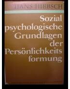 Sozial psychologische Grundlagen der Persönlichkeits formung