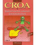Croa - Spanyol nyelvű szótanuló keresztrejtvények