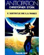 L'article de la mort - STORK, CHRISTOPHER