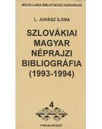 Szlovákiai magyar néprajzi bibliográfia (1993-1994)