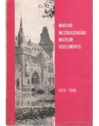 Magyar Mezőgazdasági Múzeum Közleményi 1978-1980 - Takács Imre