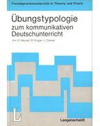 Übungstypologie zum kommunikativen Deutschunterricht