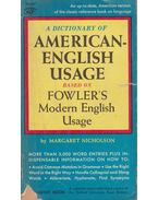 A Dictionary of American-English Usage