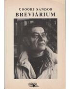 Csoóri Sándor Brevárium - Vasy Géza (szerk.)