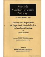 Studies on a population of Eagle Owls, Bubo bubo in Southeast Sweden - Viking Olsson