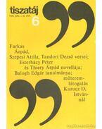 Tiszatáj 1978. június 32. évf. 6. - Vörös László