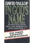 In God's Name - Yallop, David