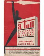A toll I. évf. 9. sz. (1929. junius 16.) - Zsolt Béla