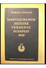 Sakkvilágbajnokjelöltek versenye Budapest 1950 - Régikönyvek