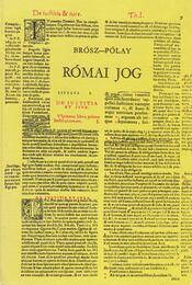 Római jog - Régikönyvek
