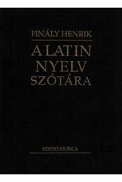 A latin nyelv szótára - Régikönyvek