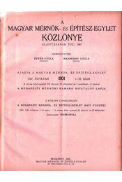 A Magyar Mérnök- és Építészet-Egylet Közlönye 1931 - Régikönyvek