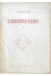 A sakkjáték elemei II. - Régikönyvek