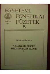 A magyar beszéd szegmentális elemei 1. - Régikönyvek
