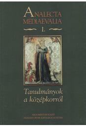 Tanulmányok a középkorról - Régikönyvek