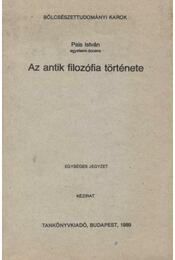 Az antik filozófia története - Régikönyvek