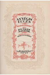 Anyegin Eugén (Gara Arnold dedikáció) - Régikönyvek