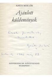Ajánlott küldemények - Régikönyvek