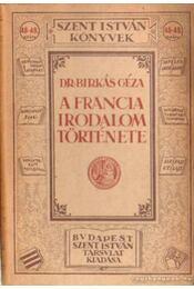 A francia irodalom története - Régikönyvek