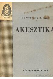Akusztika - Régikönyvek