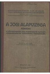 A jogi alapvizsga - Rajna Gyula - Régikönyvek