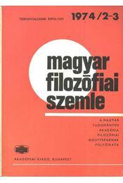 Magyar filozófiai szemle 1974-2-3 - Régikönyvek