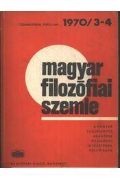 Magyar filozófiai szemle 1970/3-4. - Régikönyvek