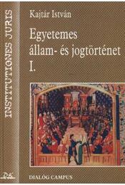 Egyetemes állam- és jogtörténet I. - Régikönyvek