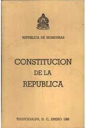 Constitucion de la Republica - Régikönyvek