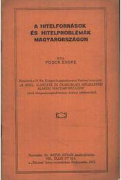A hitelforrások és hitelproblémák Magyarországon - Régikönyvek