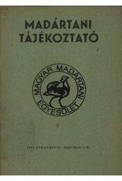 Madártani tájékoztató 1981. április-június - Régikönyvek