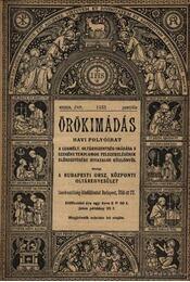 Örökimádás 1933-1934. ( 2évfolyam) - Régikönyvek