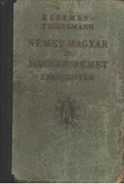 Német-magyar Magyar-német zsebszótár - Régikönyvek