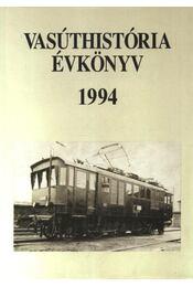 Vasúthistória évkönyv 1994 - Régikönyvek