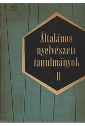 Általános nyelvészeti tanumányok II. - Régikönyvek