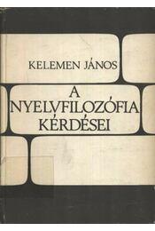 A nyelvfilozófia kérdései - Régikönyvek