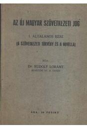 Az új magyar szövetkezeti jog - Régikönyvek
