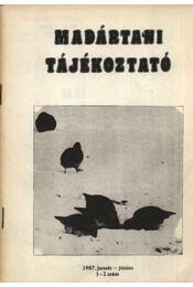 Madártani tájékoztató 1987. január-június 1-2. szám - Régikönyvek