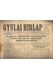 Gyulai Hírlap 1956. nov. 25. - Régikönyvek